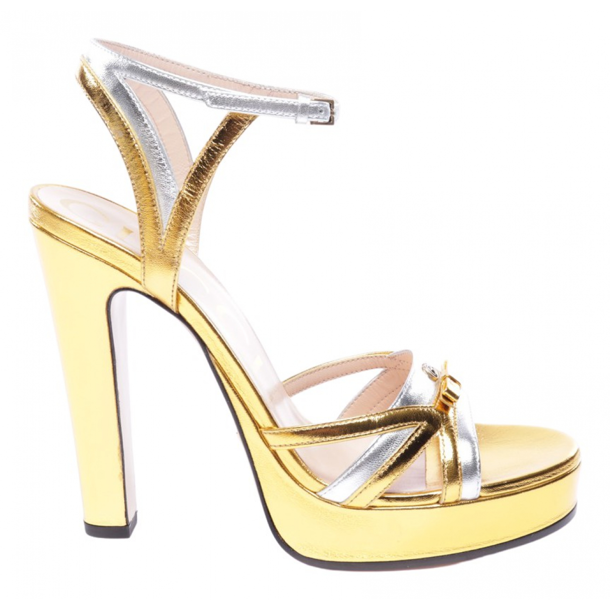 Gucci \N Metallic Patent leather Sandals for Women 38 EU