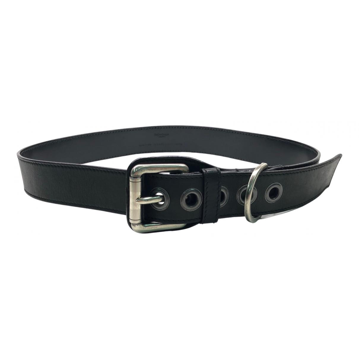 Yves Saint Laurent \N Black Leather belt for Women 90 cm
