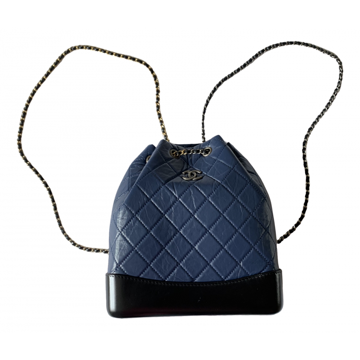 Chanel Gabrielle Navy Leather backpack for Women \N