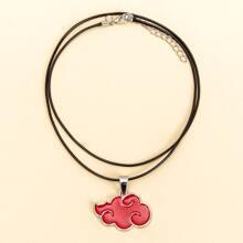 Red Cloud Pendant Necklace