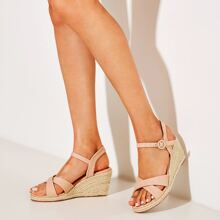 Cross Strap Ankle Strap Wedges