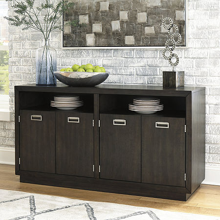 Signature Design by Ashley Hyson Collection Server, One Size , Brown