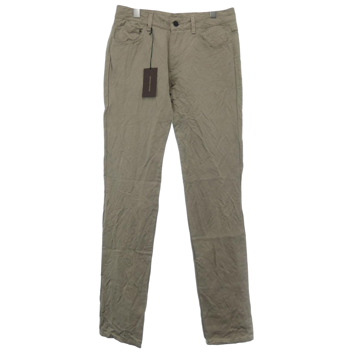 Bottega Veneta \N Green Cloth Trousers for Women 38 IT