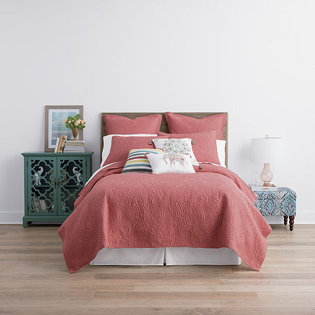 JCPenney Home Emma Quilt, One Size , Pink