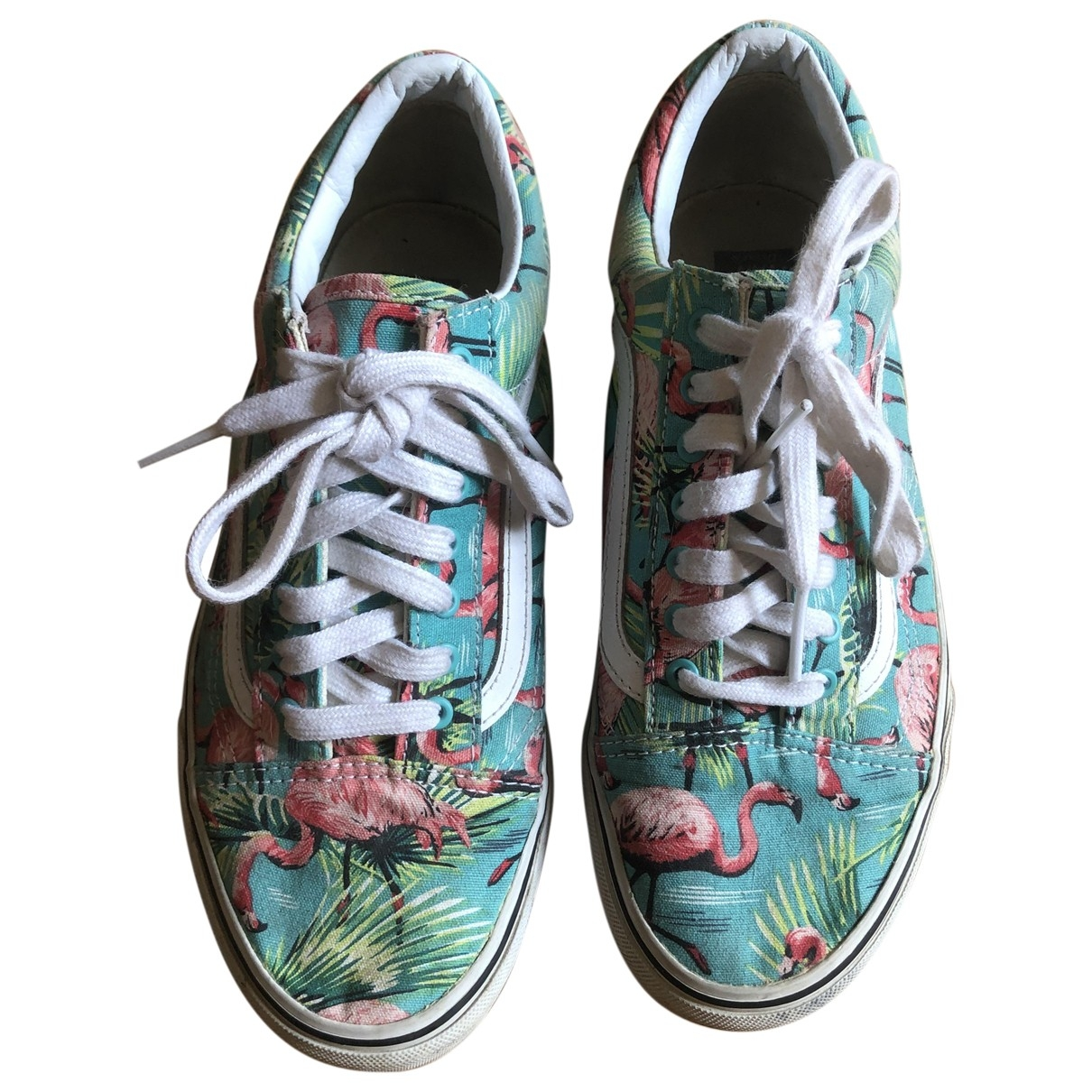 Vans \N Green Cloth Trainers for Women 39 EU