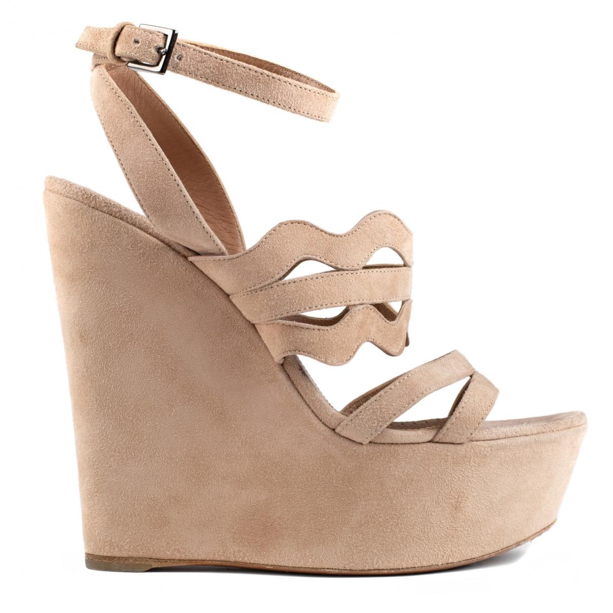 Alaïa \N Beige Suede Sandals for Women 37 EU