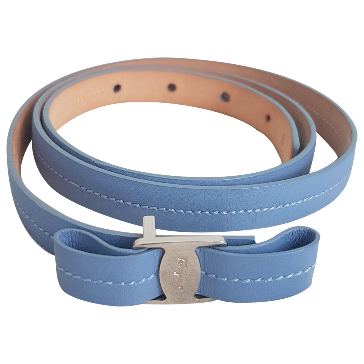 Salvatore Ferragamo \N Blue Leather belt for Women L International