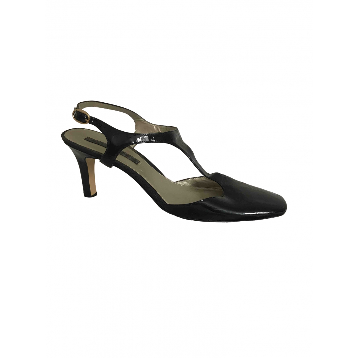 Non Signé / Unsigned \N Black Patent leather Sandals for Women 10 US