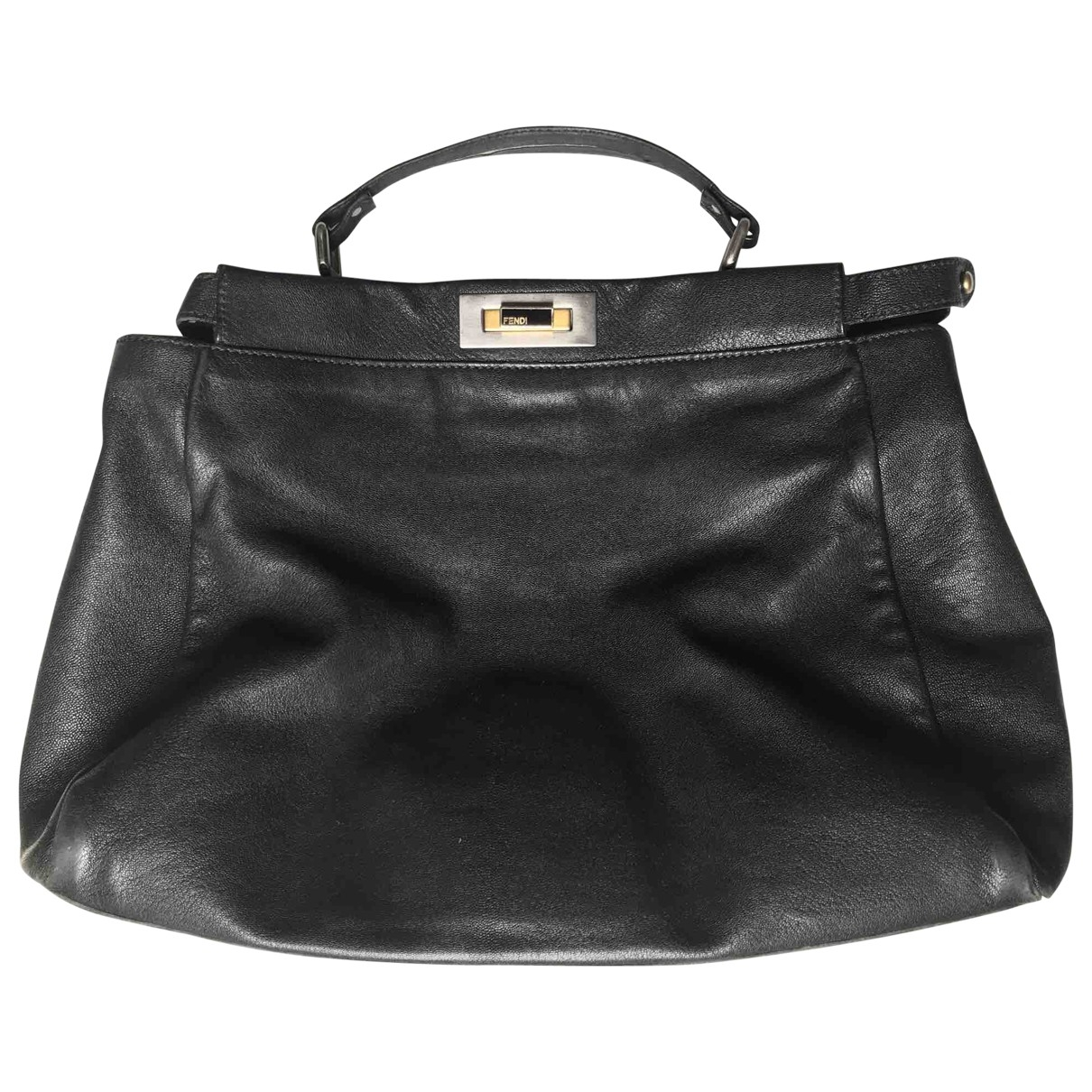 Fendi Peekaboo Black Leather handbag for Women \N