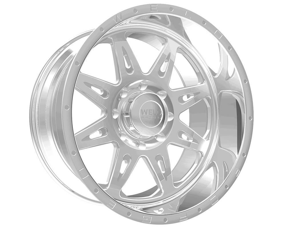 Weld Racing 80A1-22457-768N XT Cheyenne 22x14 5x150 -76mm Polished Lip w/Text