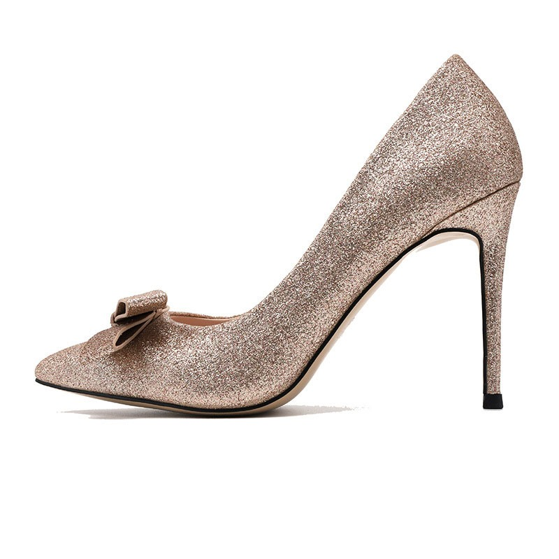 Ericdress Slip-On Stiletto Heel Pointed Toe Low-Cut Upper Prom Shoes