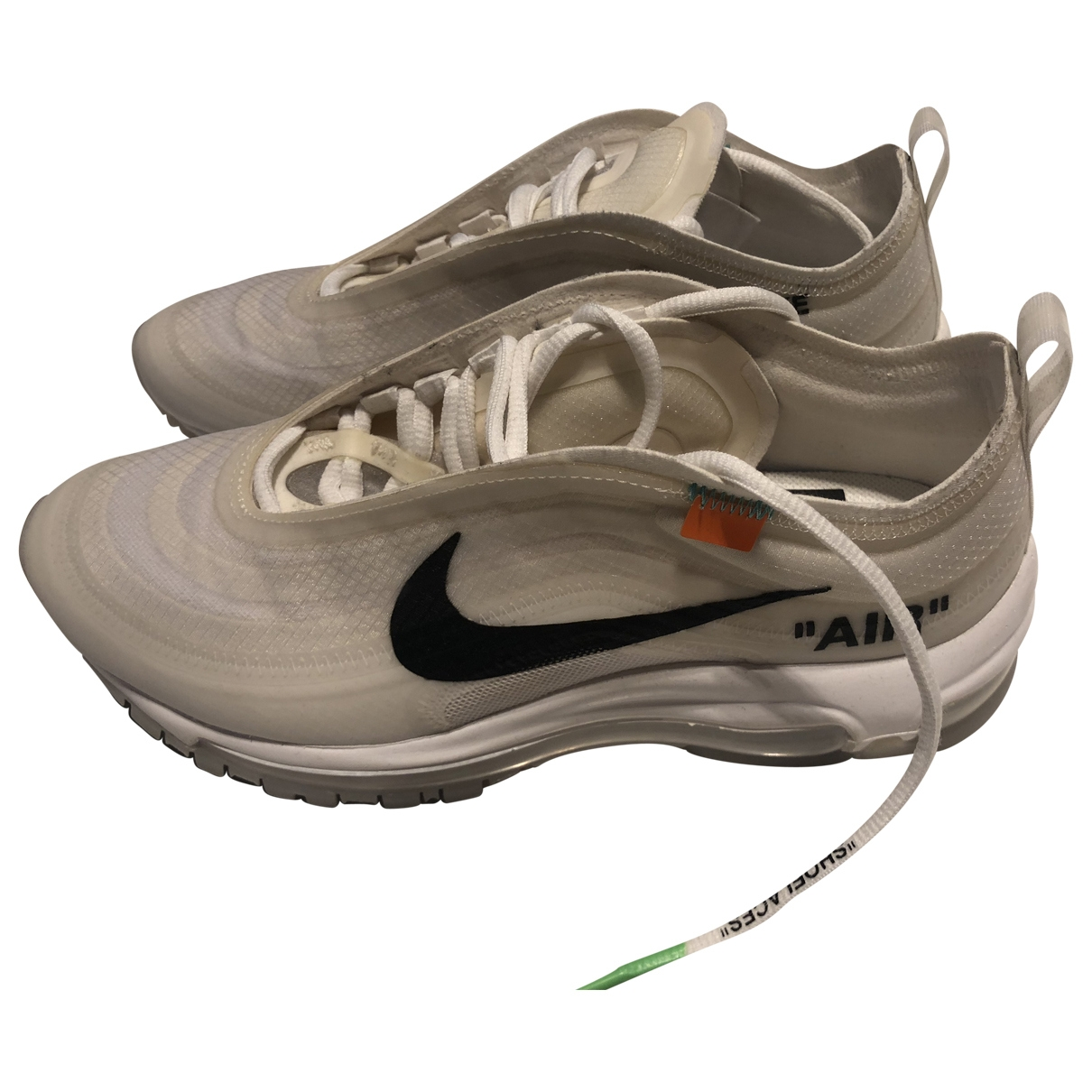 Nike X Off-white Air max 97 White Cloth Trainers for Women 5 UK