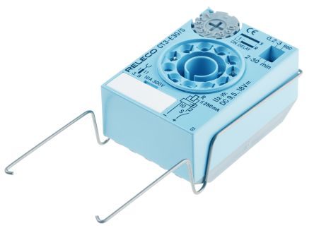 Releco Timer Relay - 0.2 → 30 min, 0.2 → 30 s, ON Delay, Plug In
