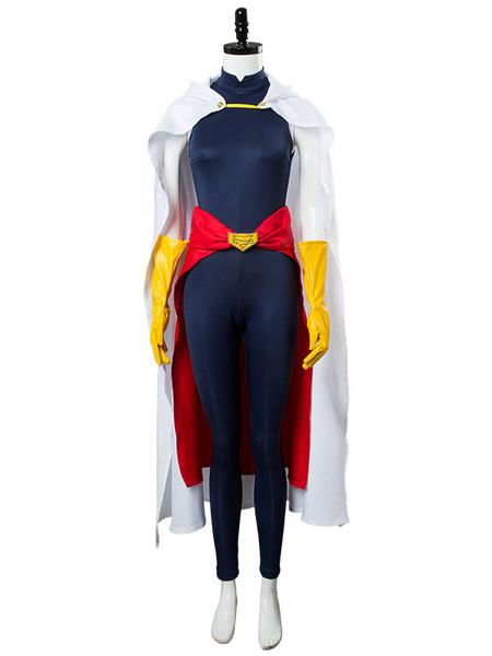 Milanoo Boku No Hero Academia Cosplay Dark Navy BNHA All Might Cosplay Jumpsuit