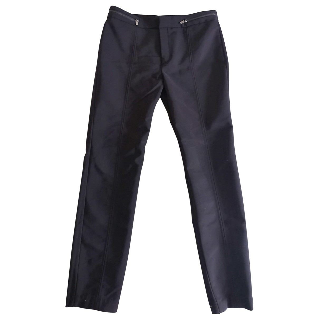 Mango \N Black Cotton Trousers for Women 38 FR