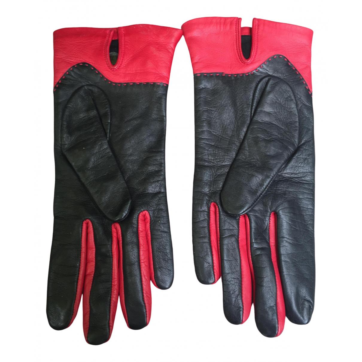 Lancel \N Black Leather Gloves for Women S International
