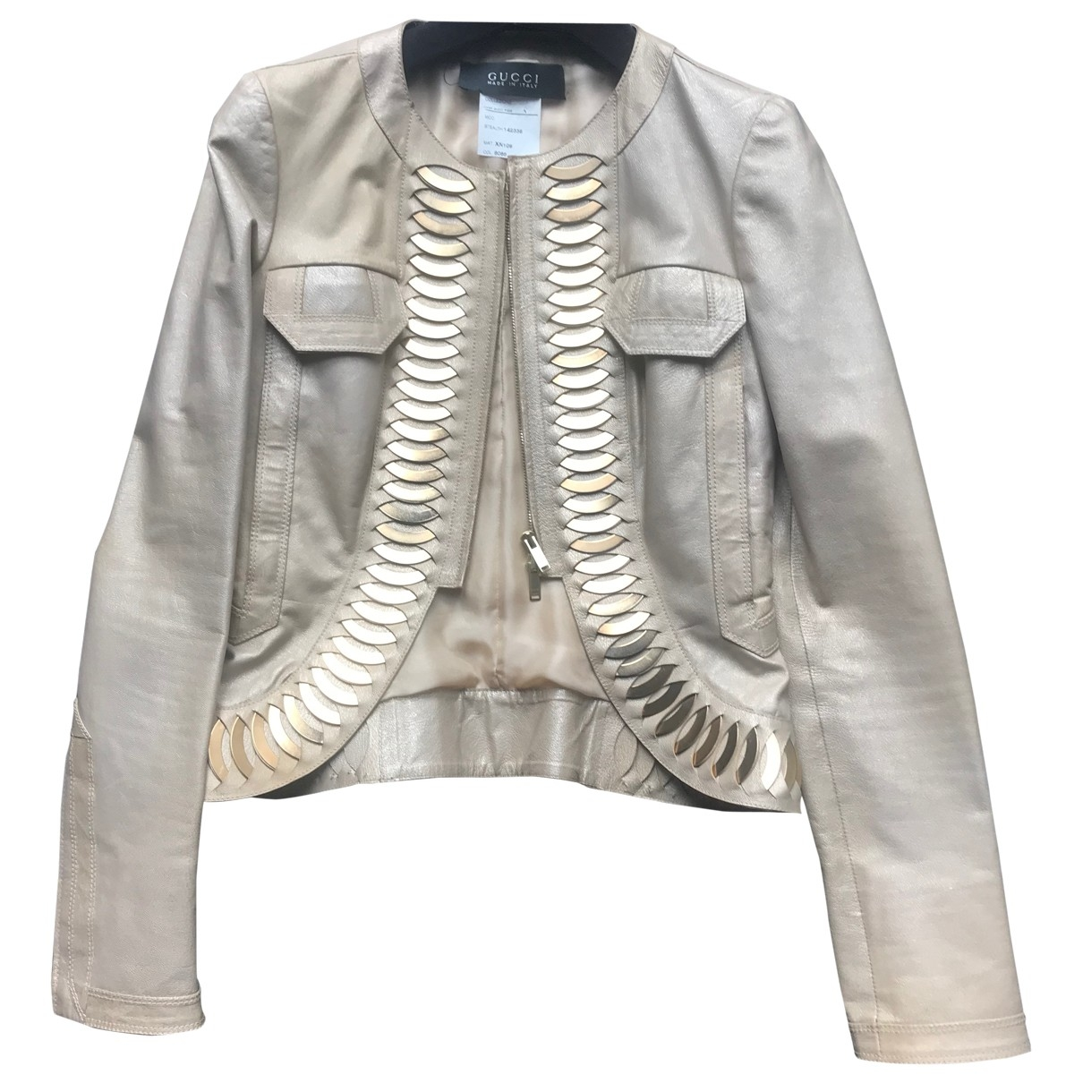 Gucci \N Leather jacket for Women 40 IT