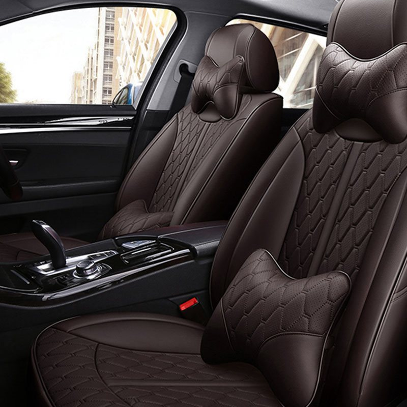 Business Style Breathable Perforated Wear-Resistant Leather 306° Full Encirclement ONE CAR ONE VERSION Custom Fit Seat Covers