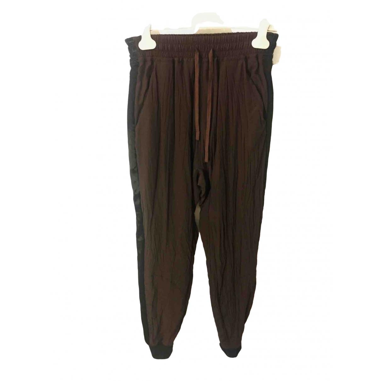 Haider Ackermann \N Brown Silk Trousers for Women XS International