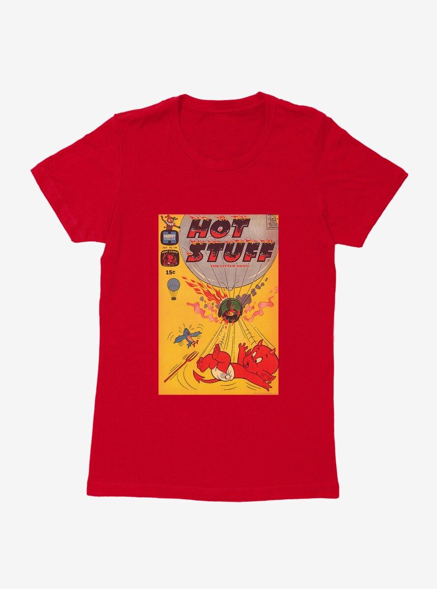 Hot Stuff The Little Devil Air Balloon Comic Cover Womens T-Shirt