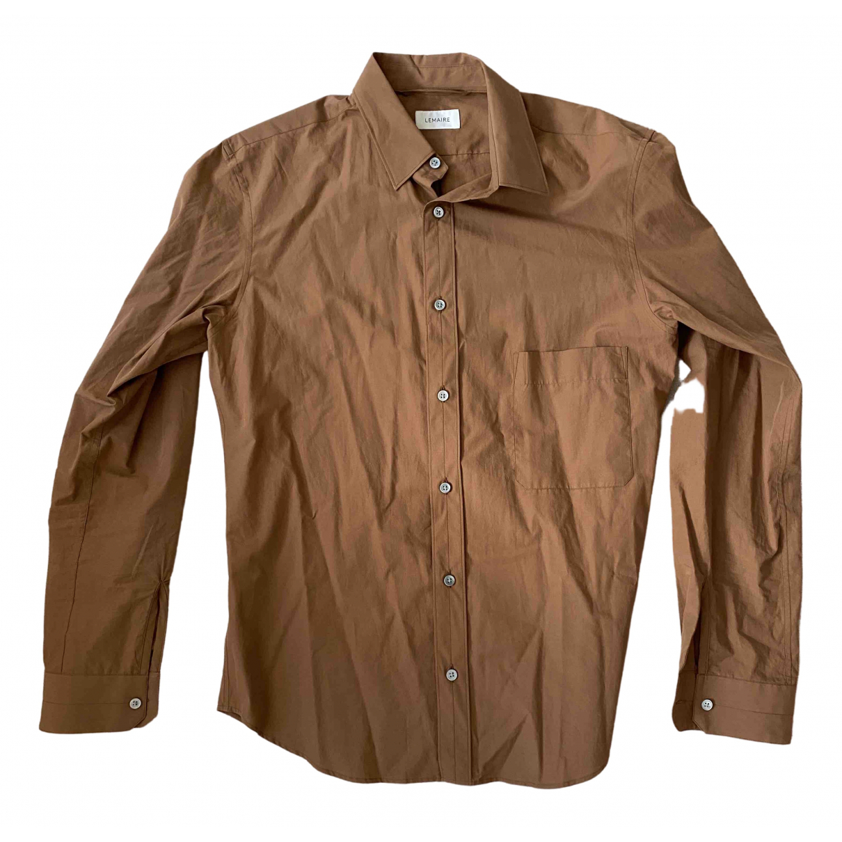 Lemaire \N Brown Cotton Shirts for Men L International