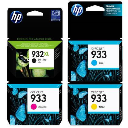 HP 932XL 933 cartouche d'encre originale combo haute capacité noire et capacité standard C/M/Y