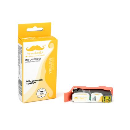 Lexmark 100XL 14N1071 14N1056 cartouche d'encre compatible jaune haute capacité