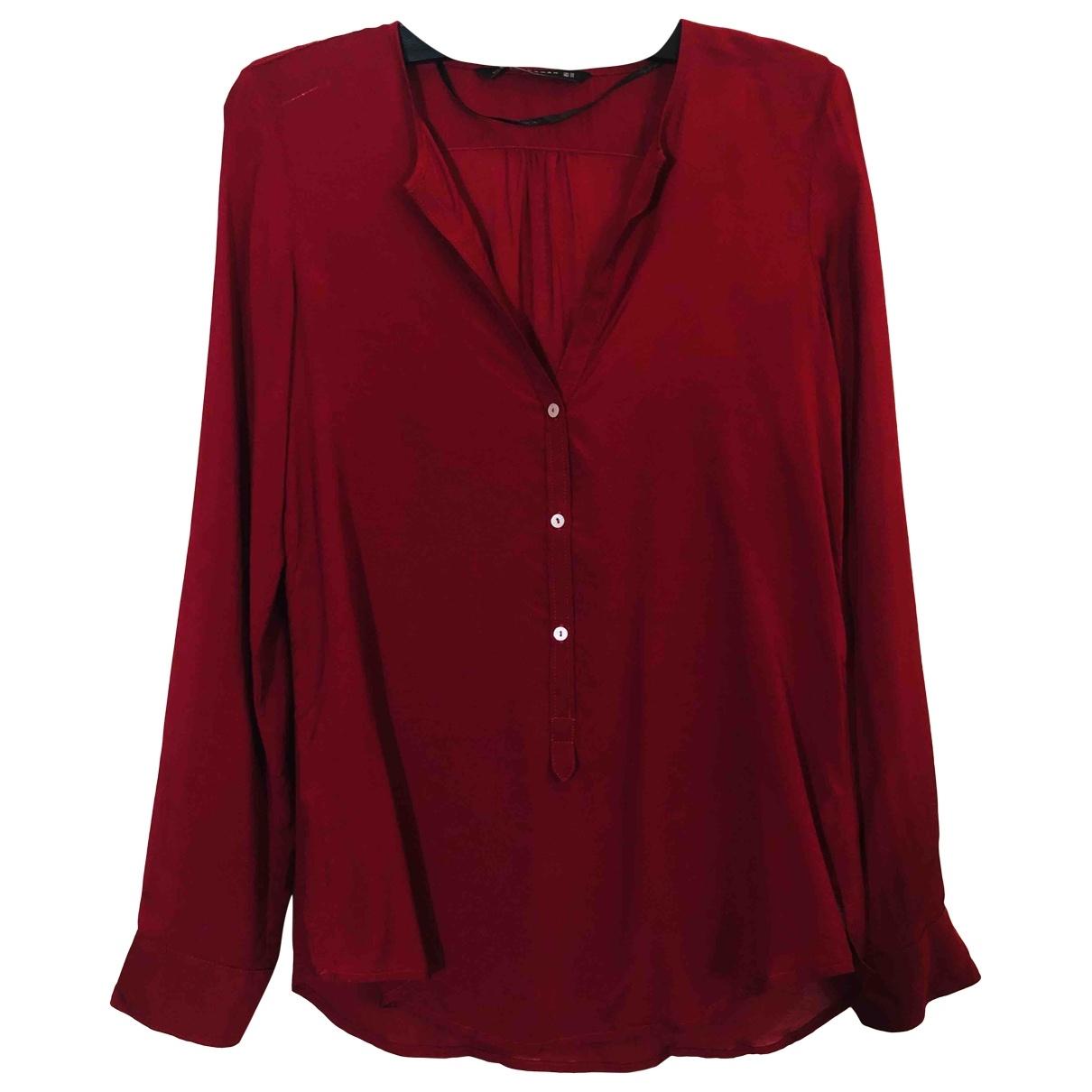 Zara \N Burgundy Cotton  top for Women XS International