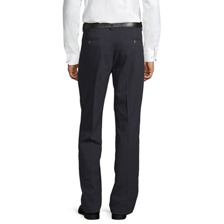 St. John's Bay Easy Care Men's Stretch Classic Fit Pleated Pant, 40 34, Blue