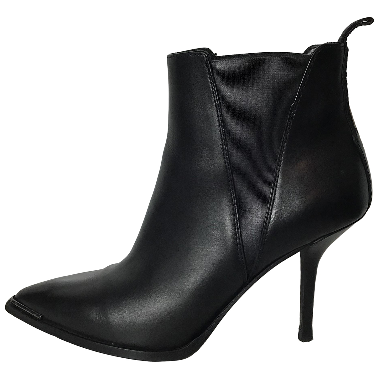 Acne Studios \N Black Leather Ankle boots for Women 38 EU