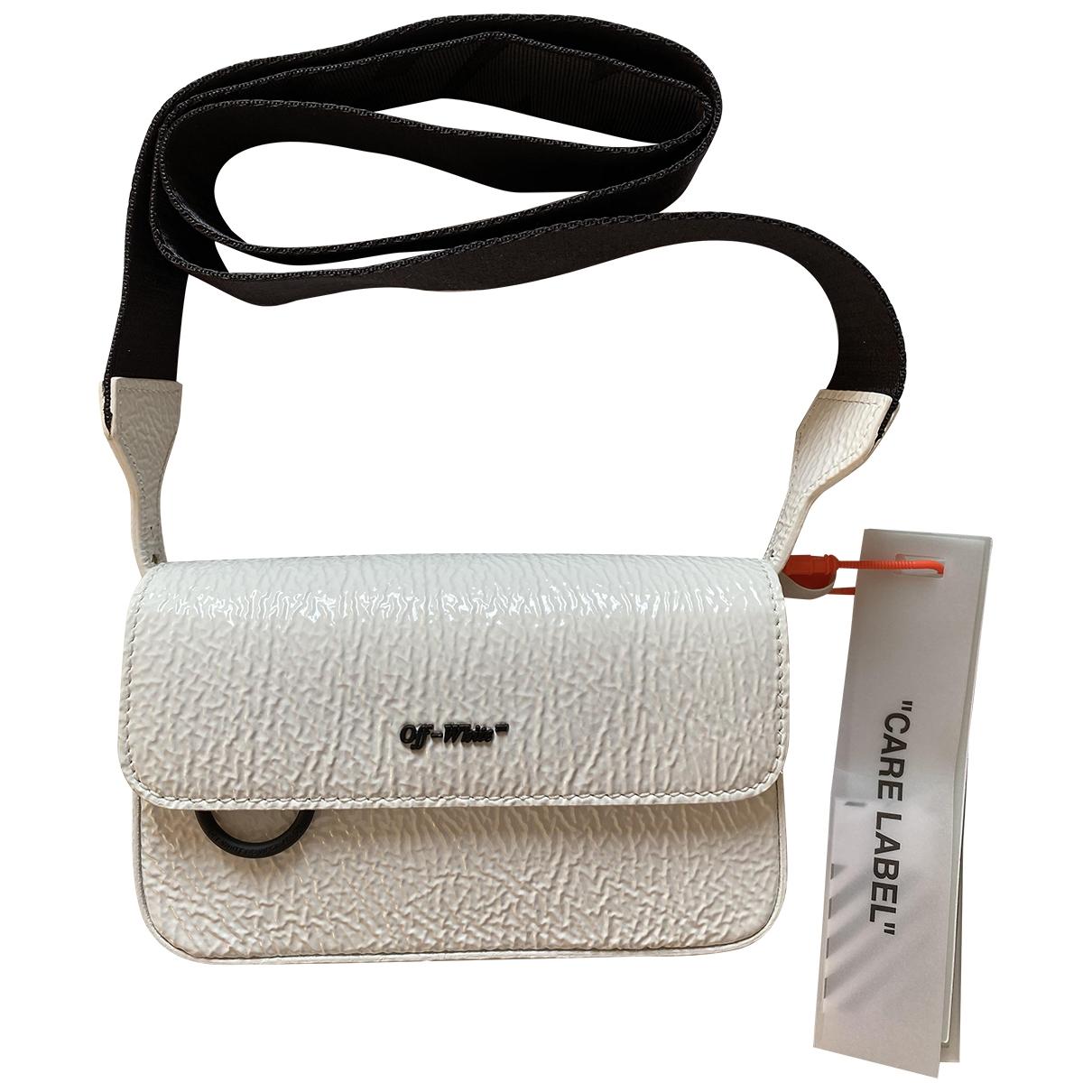 Off-white \N White Leather handbag for Women \N