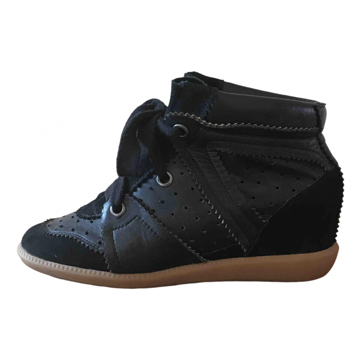 Isabel Marant Betty Black Leather Trainers for Women 38 EU