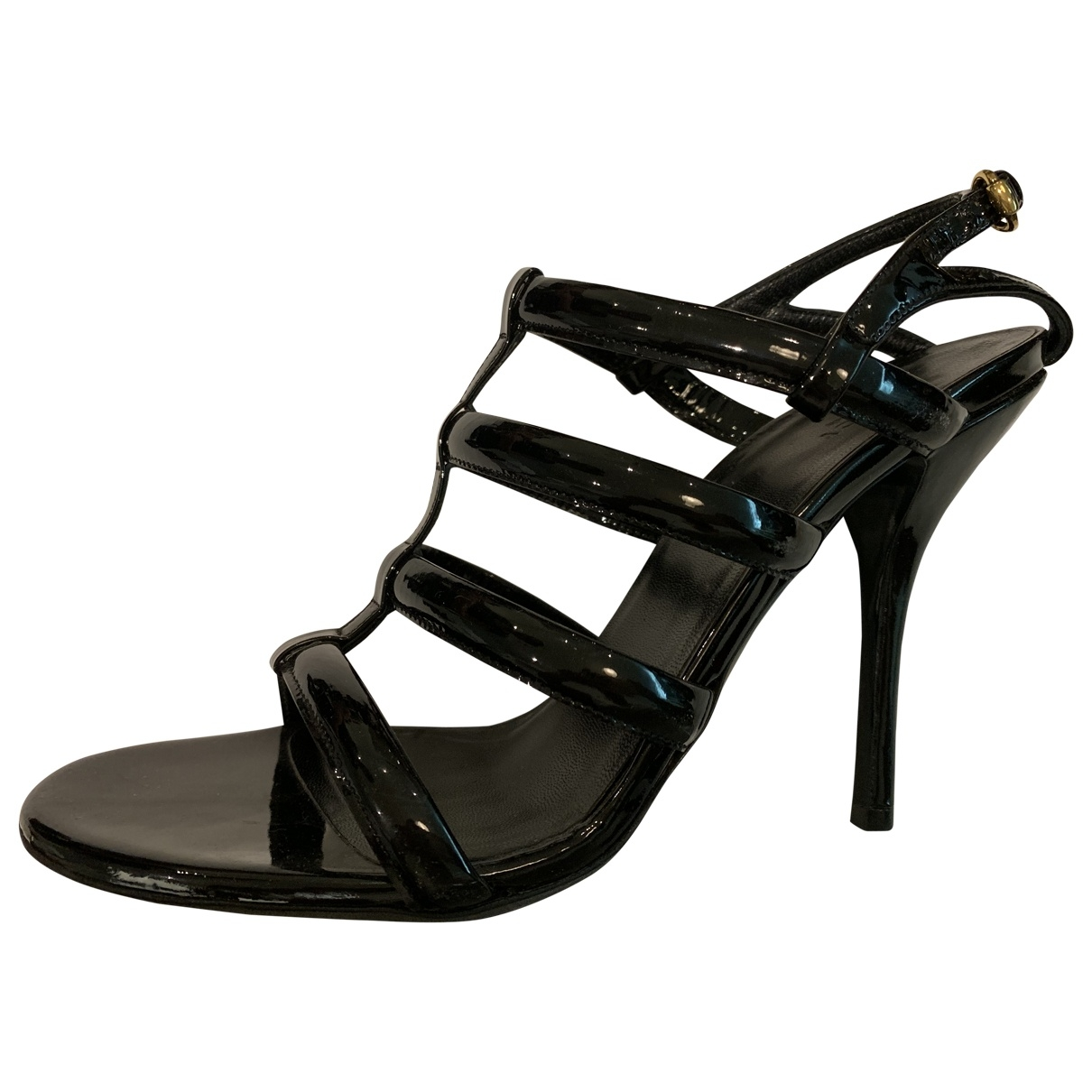 Gucci \N Black Patent leather Sandals for Women 39 EU