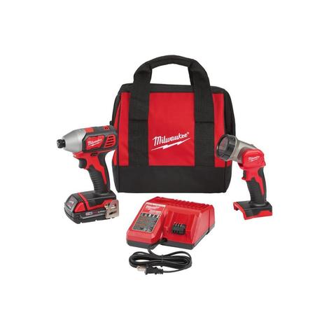 Milwaukee M18™ 1/4 in. Hex Compact Impact Driver Kit with Free LED Work Light