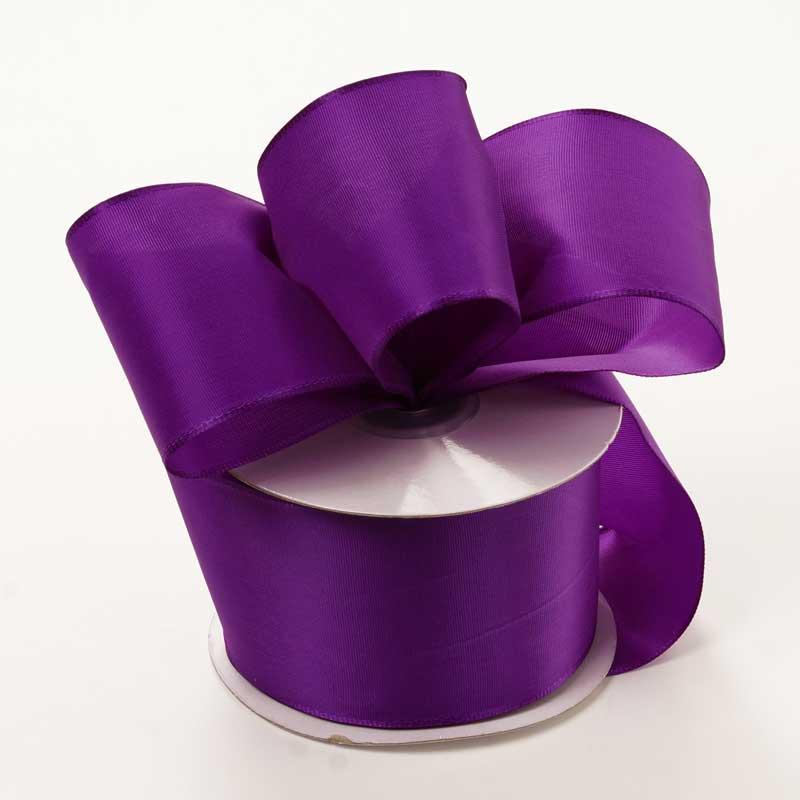 Grosgrain 1-1/2 X 50 Yards Purple Trevia Taffeta Wired Ribbon by Ribbons.com