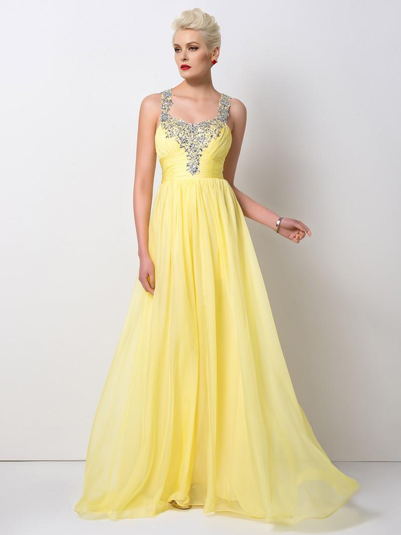 Ericdress Glittering A-Line Beaded Long Prom Dress