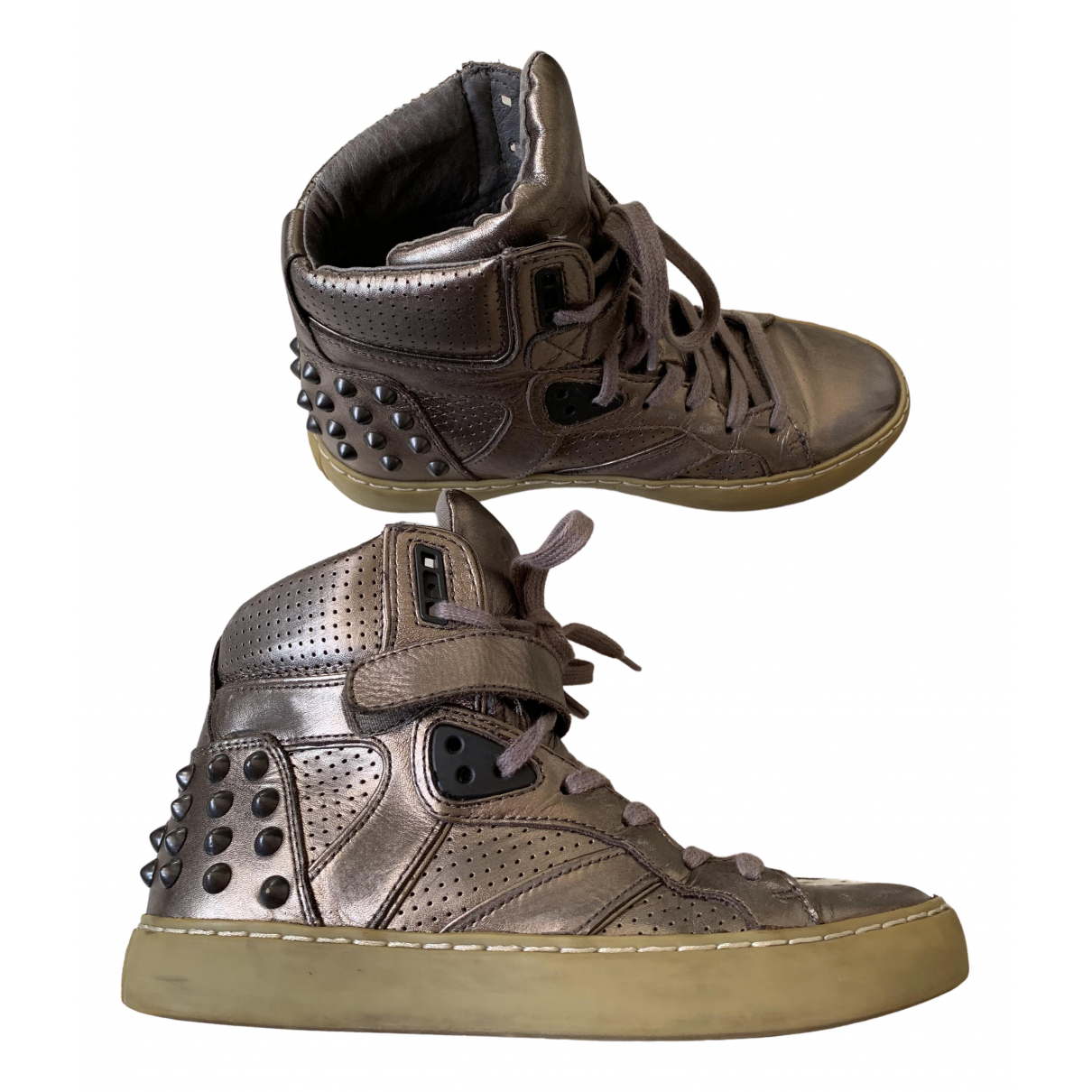 Ash \N Metallic Leather Trainers for Women 36 EU