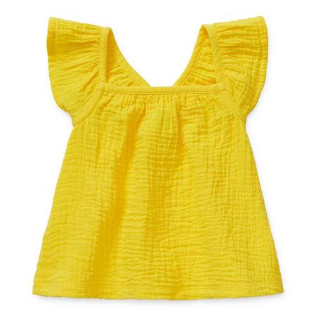 Okie Dokie Baby Girls Round Neck Tank Top, 24 Months , Yellow