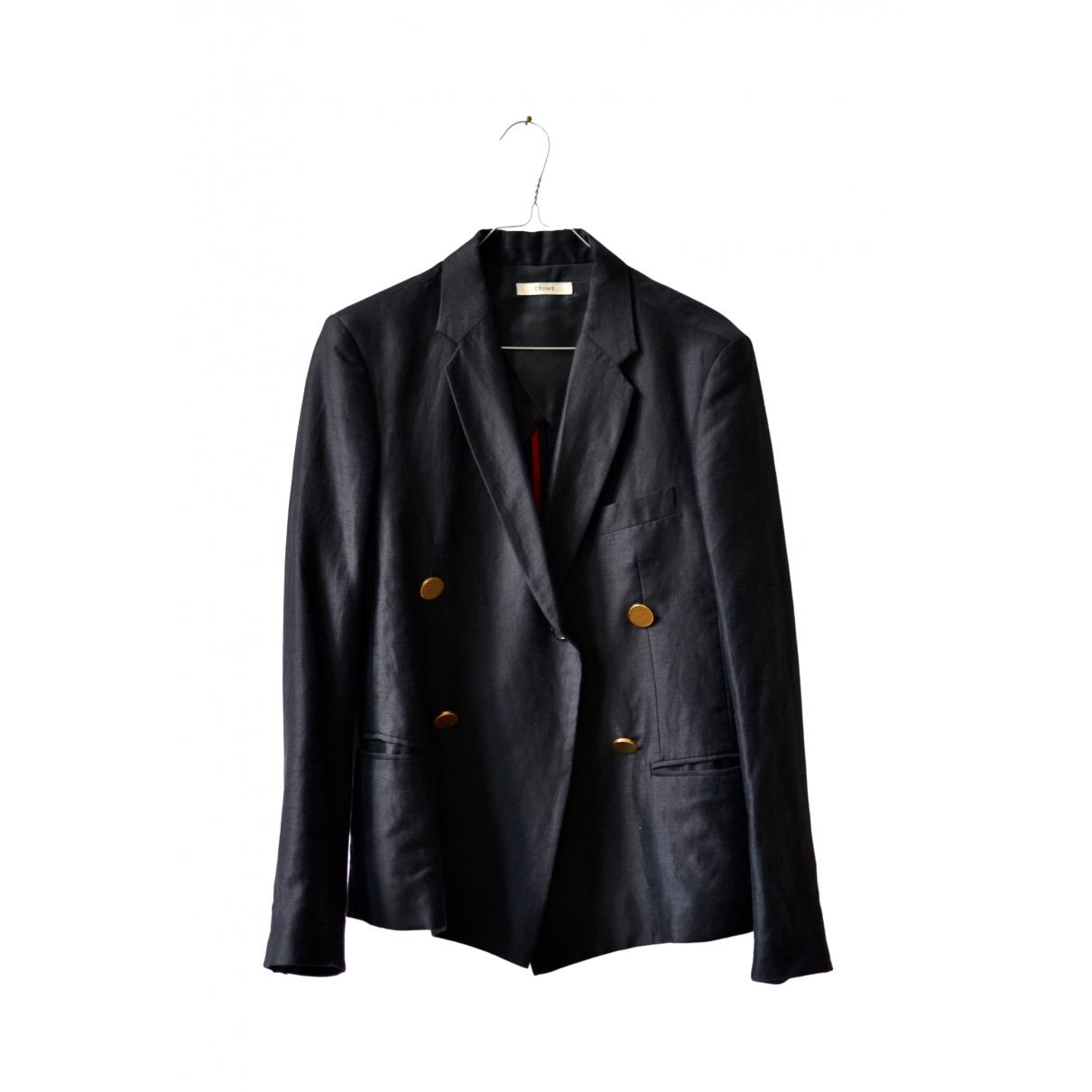 Celine \N Black Linen jacket for Women 38 FR