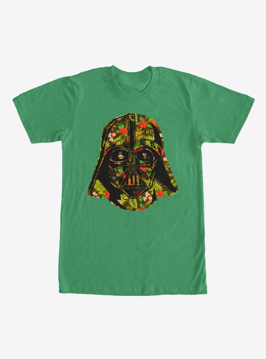 Star Wars Hawaiian Print Darth Vader Helmet T-Shirt