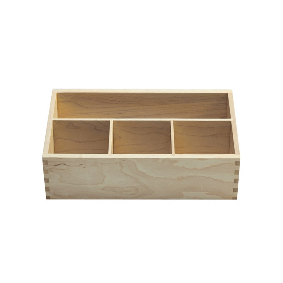 Maple Plain Pattern Simple Style Cosmetic Storage Box