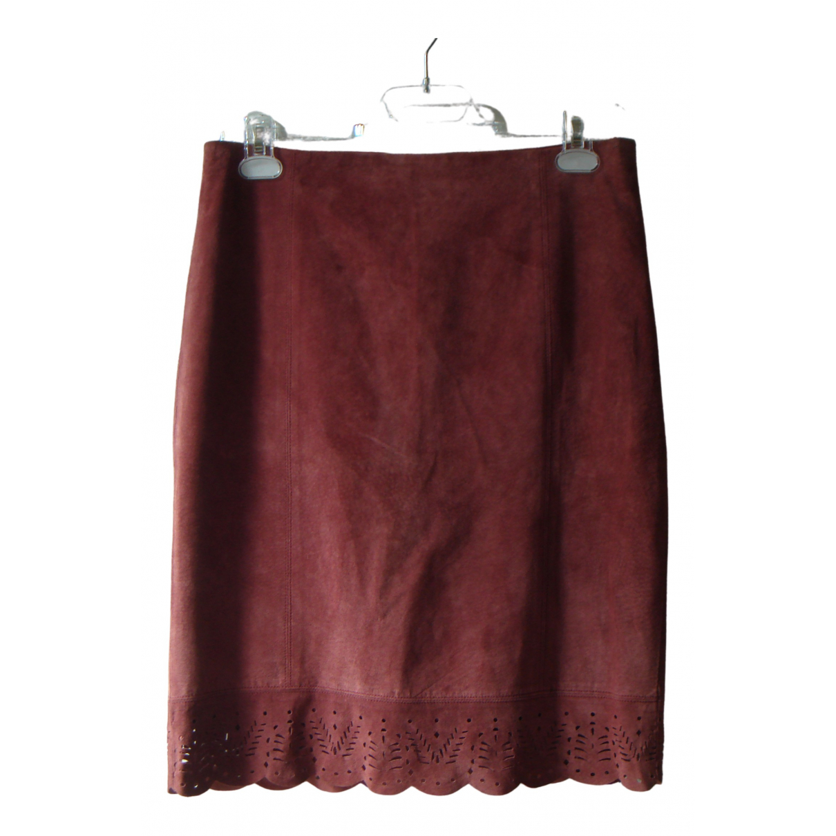 Non Signé / Unsigned \N Leather skirt for Women 8 US