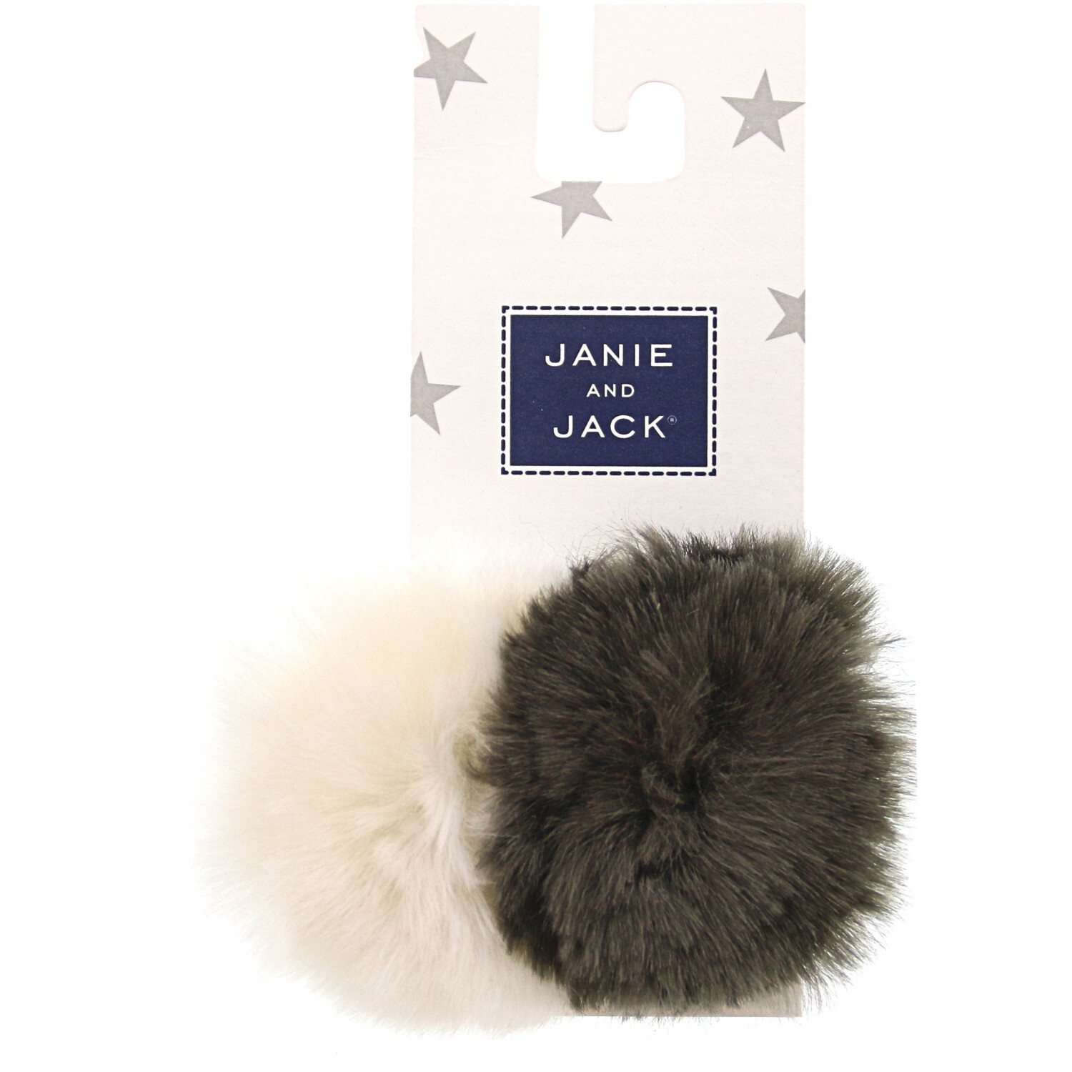 Janie And Jack Pom Barrette - One Size - Grey / White