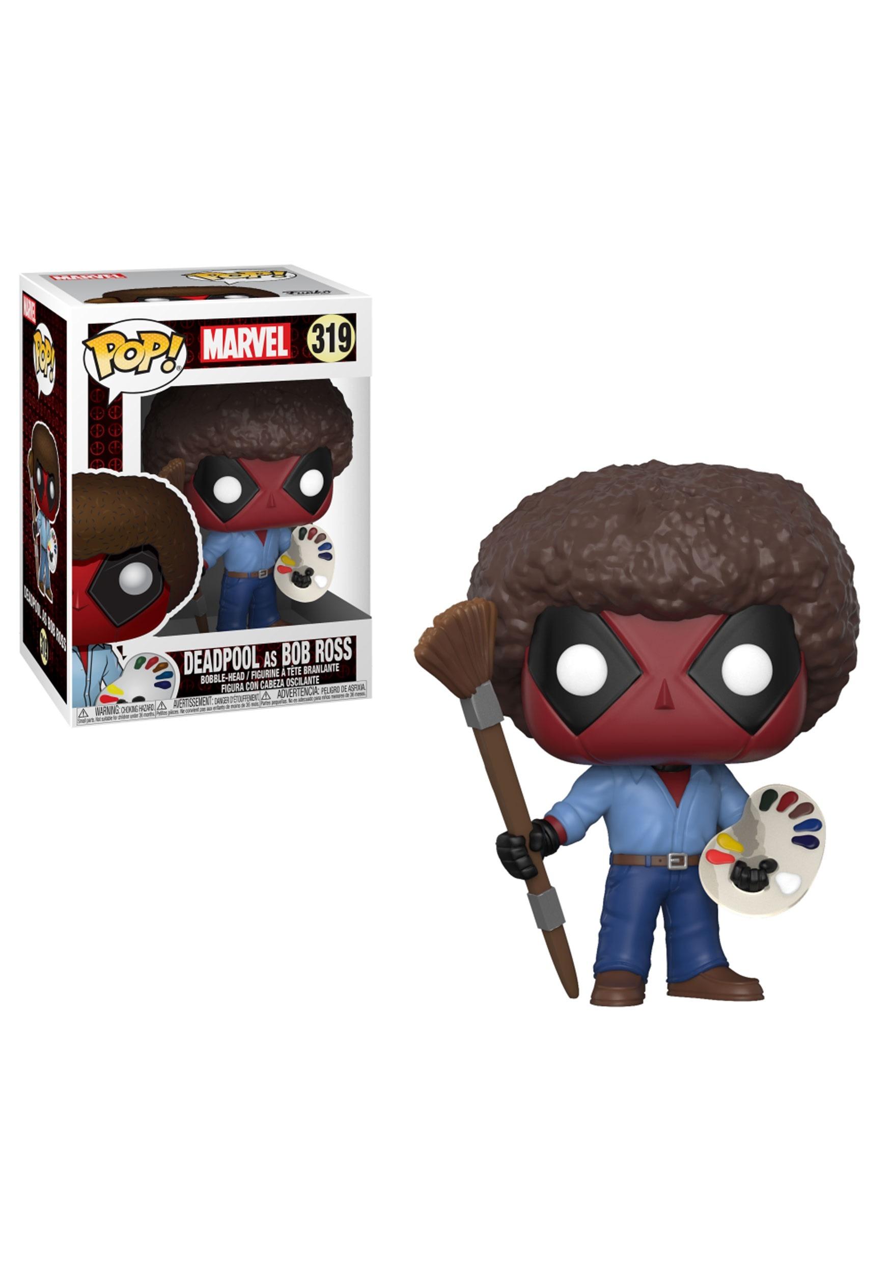 Marvel Deadpool as Bob Ross POP! Bobblehead Figure