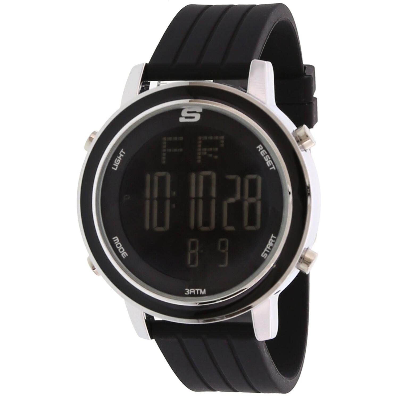 Skechers Watch SR6012 Westport, Digital Display, Chronograph, Date Function, Alarm, Backlight Display, Black Silicone Band, Black