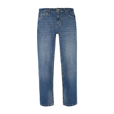 Levi's Big Boys 502 Tapered Stretch Regular Fit Jean, 12 , Blue