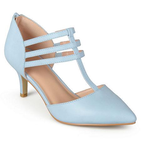 Journee Collection Womens Pacey Pumps Stiletto Heel, 7 1/2 Medium, Blue