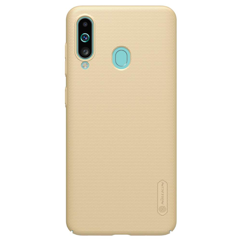 NILLKIN Protective Frosted PC Phone Case For Samsung Galaxy A60 Smartphone - Gold