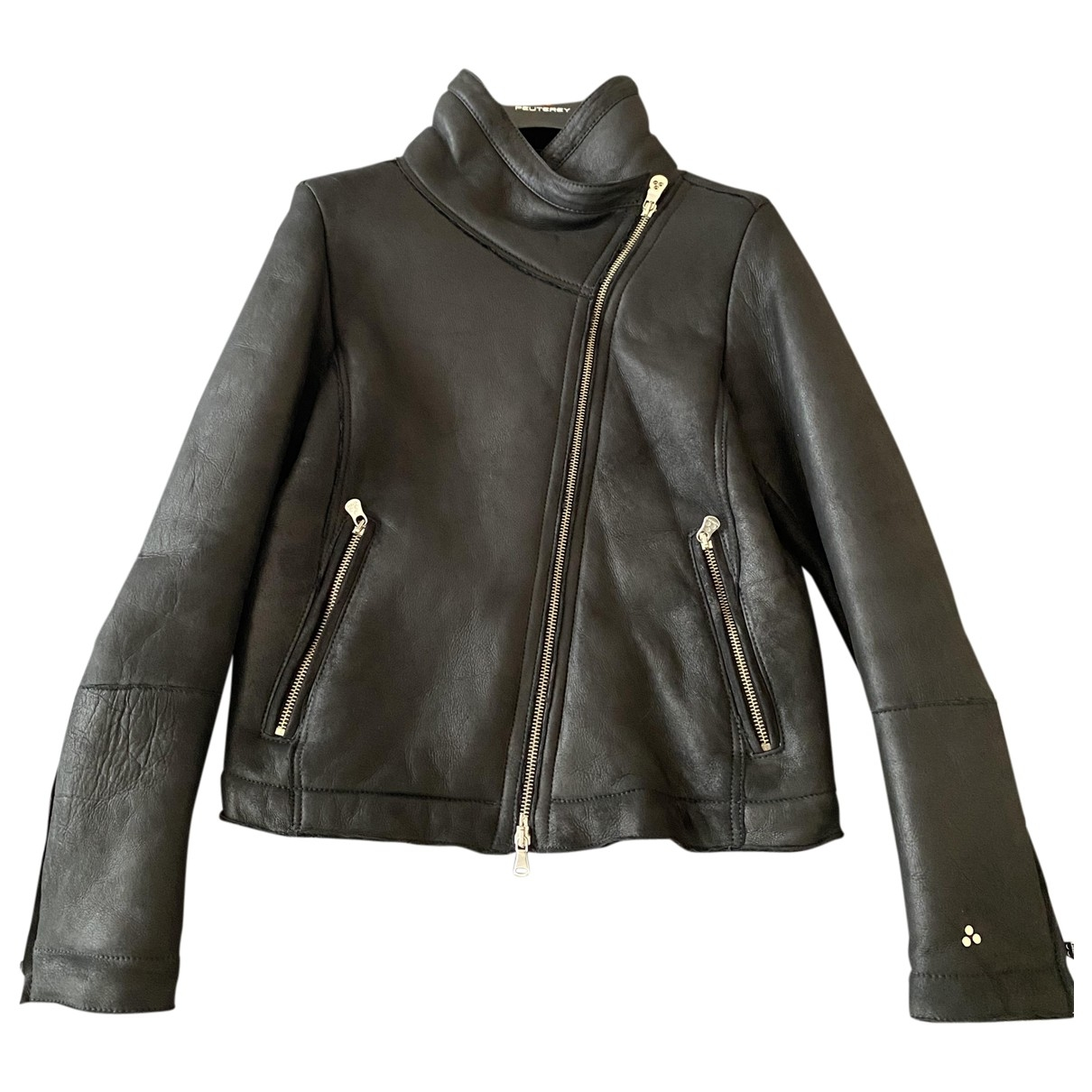 Peuterey \N Black Shearling Leather jacket for Women 40 IT