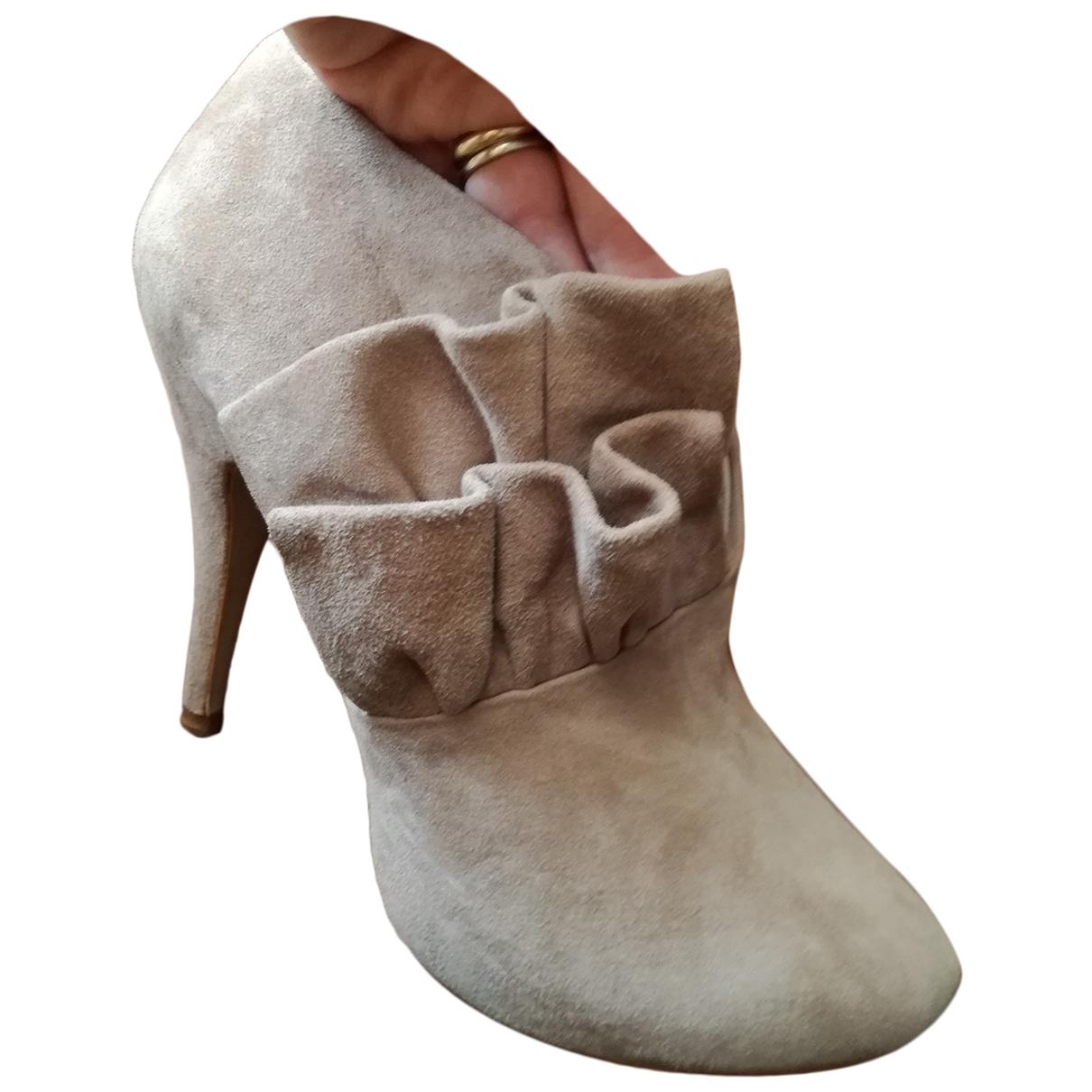 Zara \N Beige Suede Ankle boots for Women 38 EU